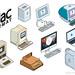 Retro Apple Sticker Illustrations: MacFormat Magazine