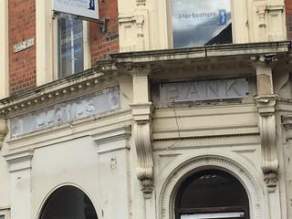 Lloyds Bank ghost signs, Wood Hill, Northampton