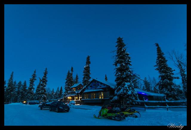 Laponia Tankavaara aurora boreal - Hotel del pueblo de oro en Tankavaara
