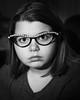 Addy in Horned Rim Glasses