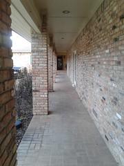 Walkway outside doctor's office.