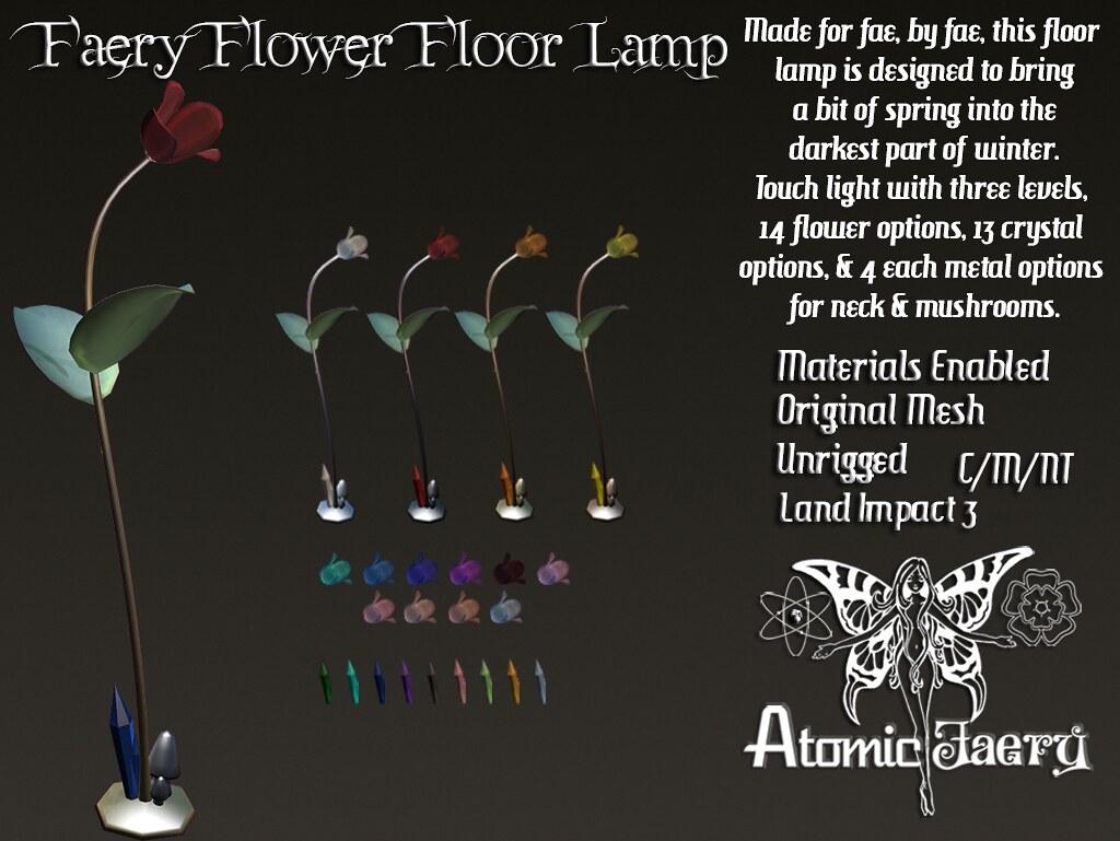 Atomic Faery - Faery Flower Floorlamp - SecondLifeHub.com