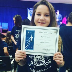 Alysa received the Silver Star Award for academic excellence!👍 Great job, sis!🌟