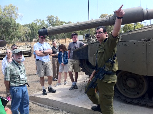 Ultimate Mission participants visit Golan Heights tank base by Shurat HaDin - Israel Law Center