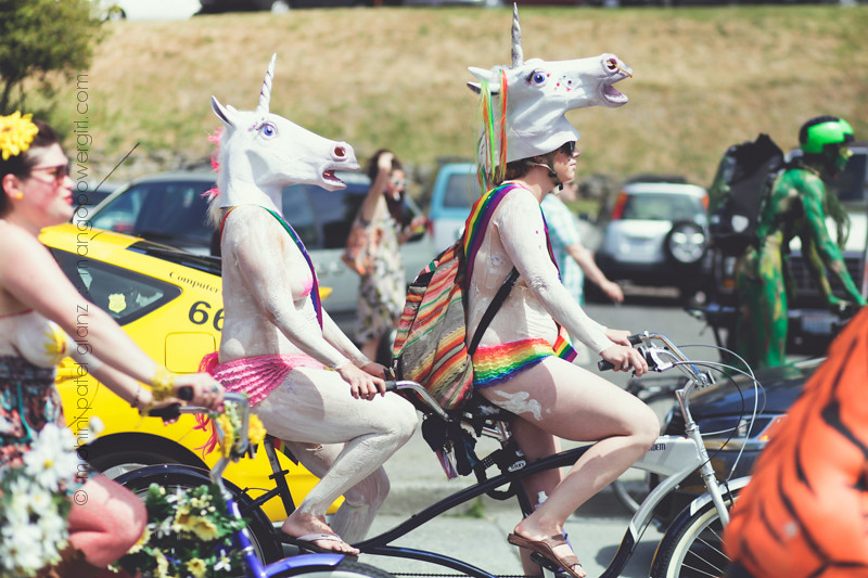tandem bike unicorns