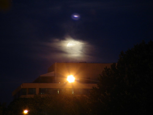 Supermoon Rises over Dupont Circle Building