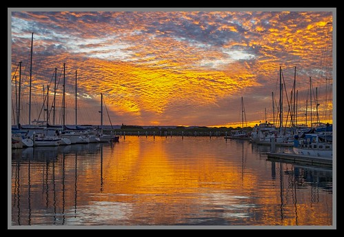 Start of Sunset over Scarborough Marina-02=