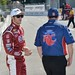Marco Andretti waits on pitlane for practice to start