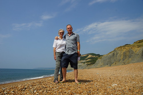 Mum and me on Seatown beach by CharlesFred