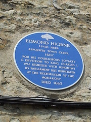 Photo of Edmond Hiorne blue plaque