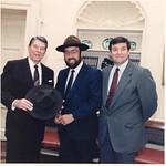 With President Ronald Reagan & Congressman Duncan Hunter