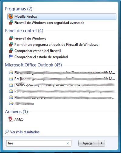 Imagen Firefox en menu inicio