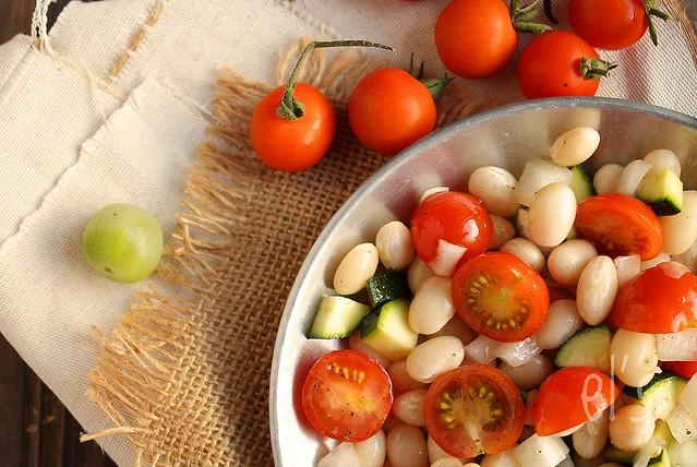 Salade de cocos de paimpol tomates et courgettes aime - Cuisiner les cocos de paimpol ...