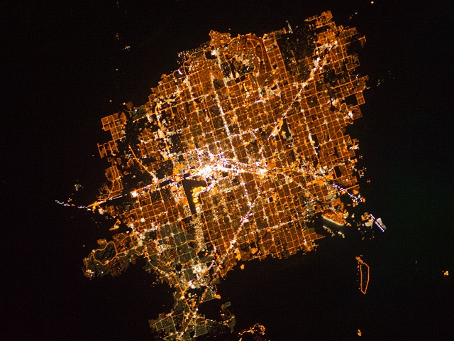 Las Vegas At Night from Space