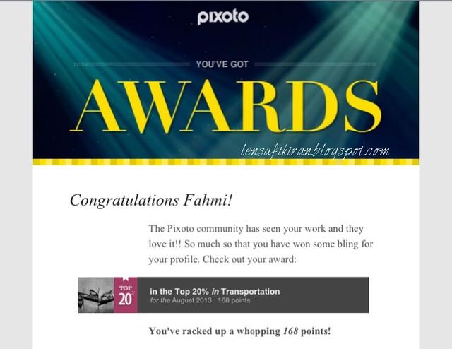 Pixoto award