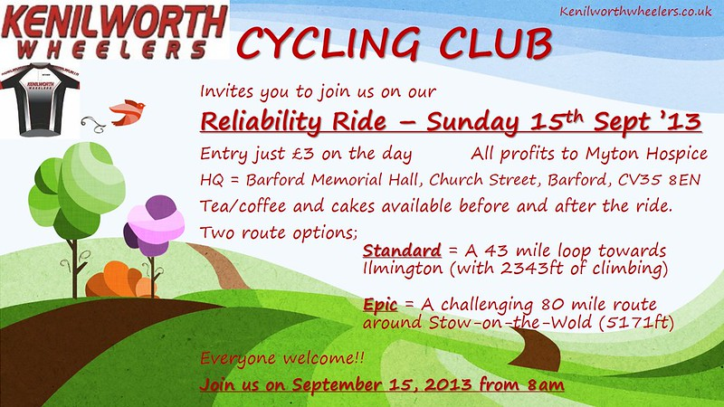 KW reliability ride - poster 2013c