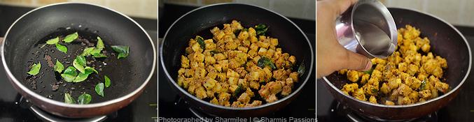 How to make vazhakkai curry - Step2