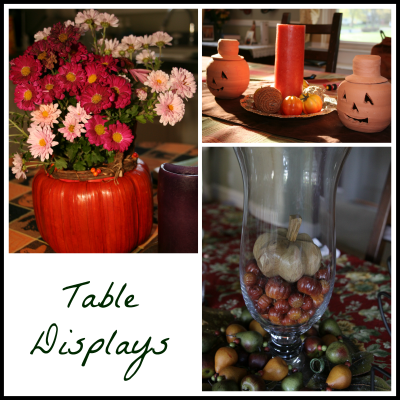 Fall Table Displays
