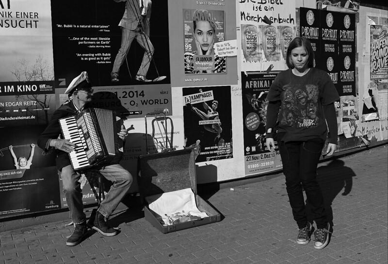 漢堡  魚市場前的表演藝人