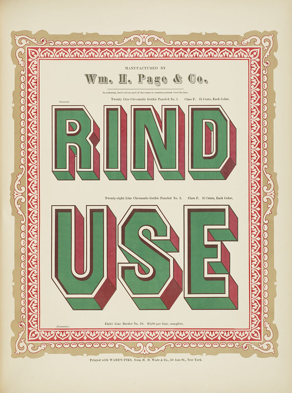 Specimens of chromatic wood type, borders 1874 - [via Columbia U] (Rind + Use) - Gothic paneled No.2 type