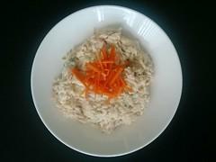 Curd rice med agurk og gulerod
