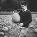brian picking his perfect pumpkin to carve at serres farm by mohini :: mangopowergirl.com