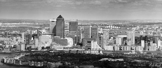 Canary Wharf from the Shard Tower