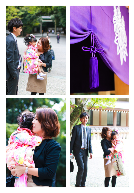 七五三,熱田神宮,愛知県名古屋市,ロケーション撮影,記念撮影,家族写真,着物,自然