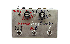 Napalm Amp Selecta - Active Amp Selector (Footswitches: A/B, Y, Kill. Switches: Phase. Volume Controls A, B.)