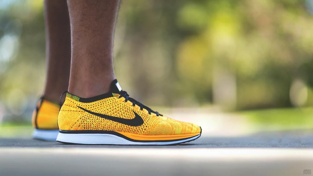 Nike Flyknit Racer - Team Orange aka Cheetos