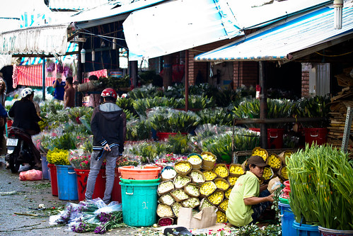 flower market Saigon