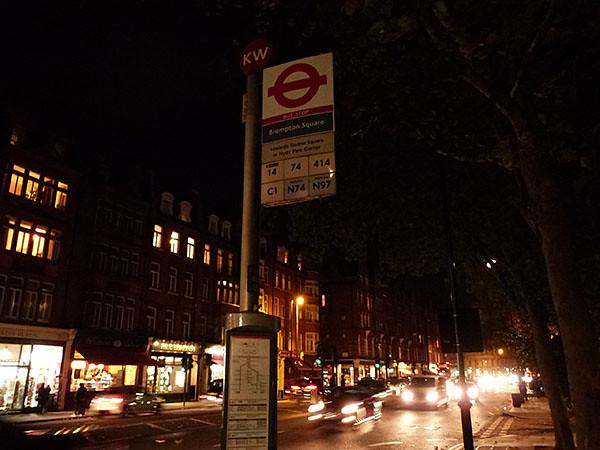 bus à Brormpton Square