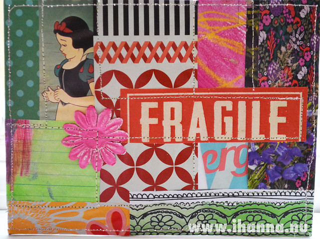 DIY Postcard Pop Art Collage - Fragile Princess