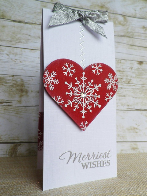 Snowy Heart Card & Gift Card Holder