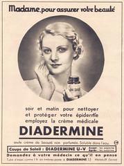 (petite Pub.)Diadermine Marie-Claire n°32 8 octobre 1937
