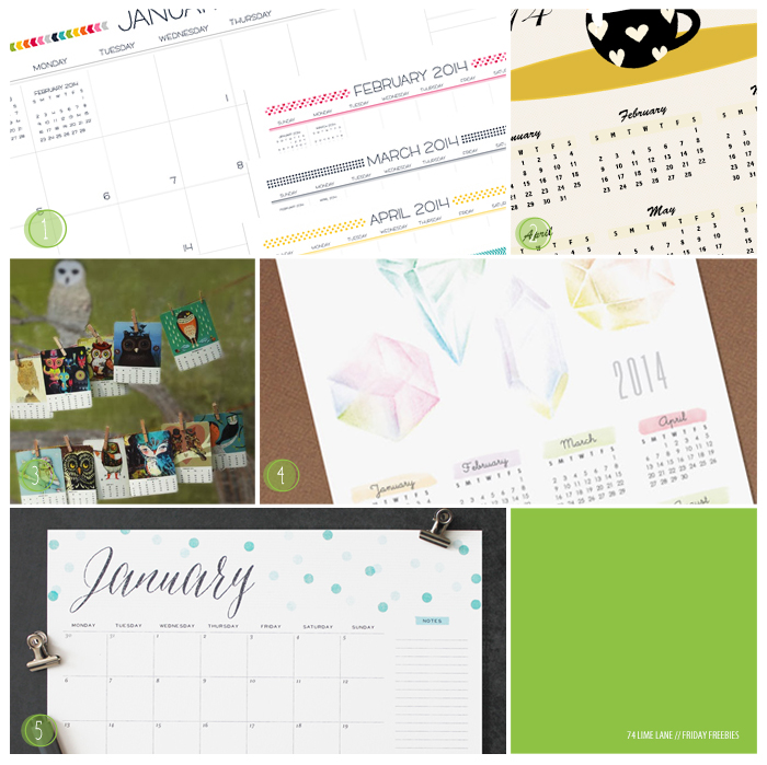 friday freebies // the calendar edition