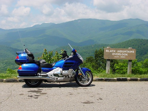 Black Mountains Overlook, North Carolina, Elev. 3880 ft., 2001 Honda GoldWing, GL1800,