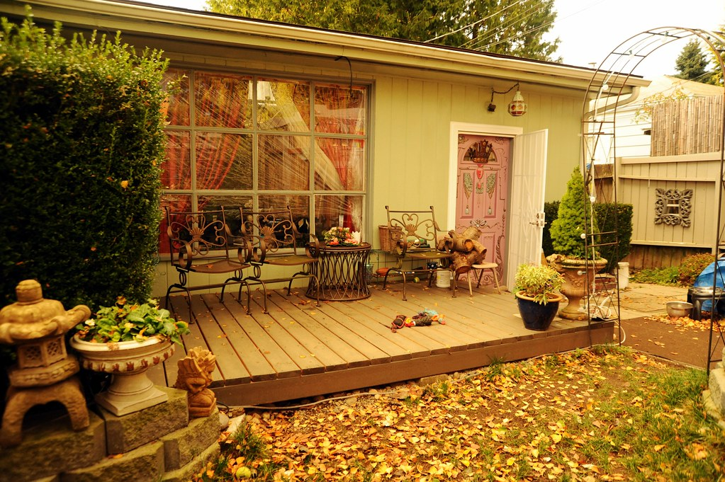 The New Front Deck In The Winter, Patio Furniture, Rosieu0027s Dog Toys,  Japanese