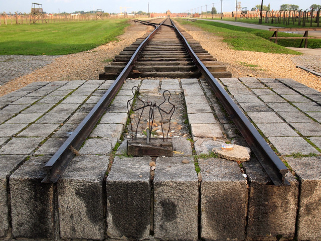 End of the tracks at Auschwitz II-Birkenau