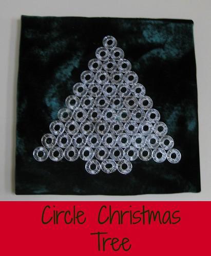 Circle metal christmas tree