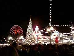 Disney California Adventure - waiting for World of Color's Winter Dreams by JohnAberle
