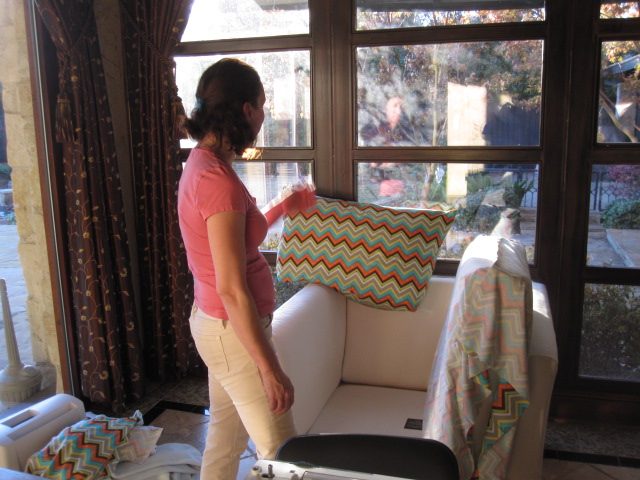 EID 2013: Before - Gathering Donations of Furniture & Mattresses; Prepping, Reupholstering Furniture