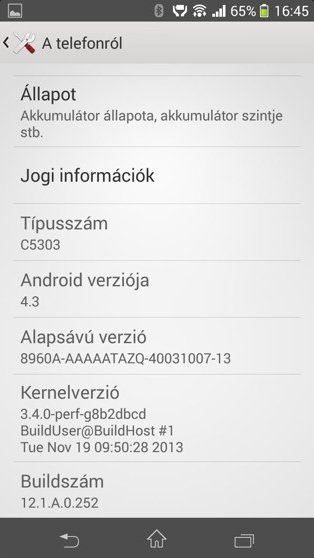Android 4.3 для Xperia SP