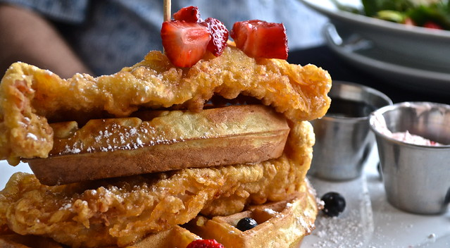 Oceans 234 restaurant, Deerfield Beach, Florida - chicken and waffles