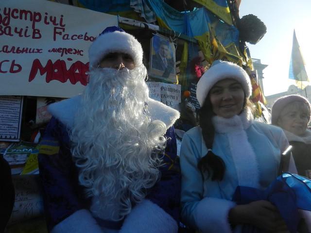 Евромайдан. Без Деда Мороза и Снегурочки - никак
