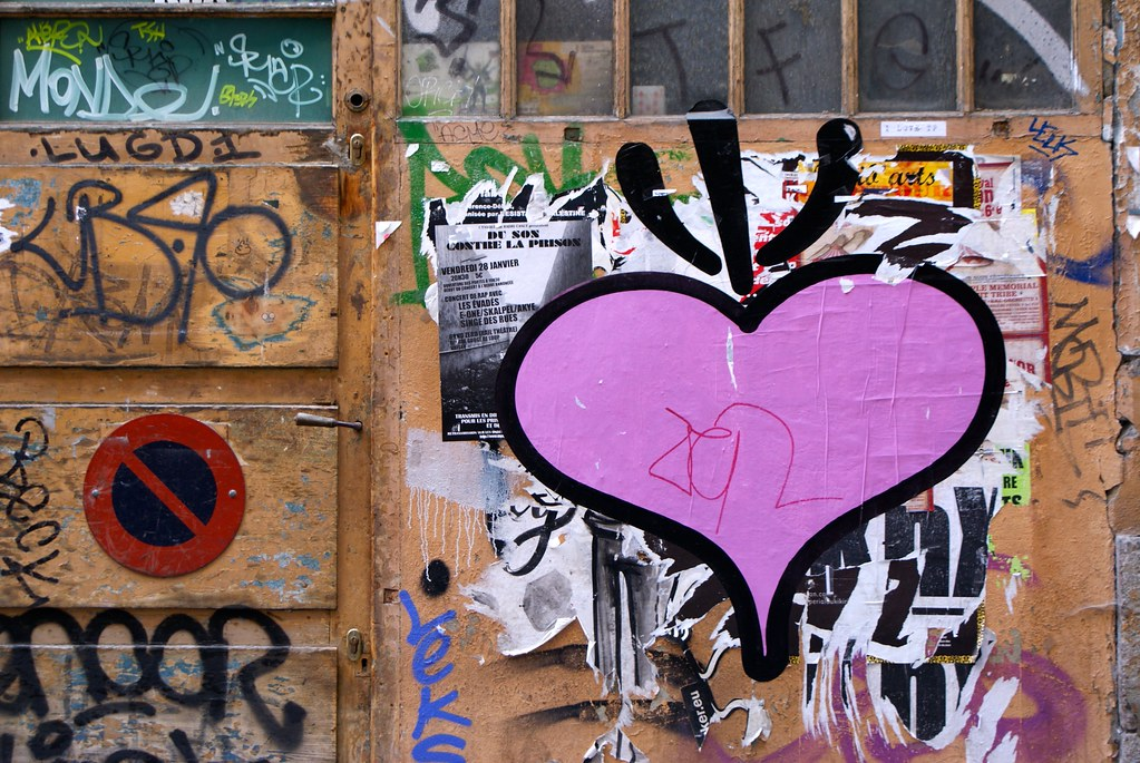 Street art à Lyon dans le quartier des Terreaux.