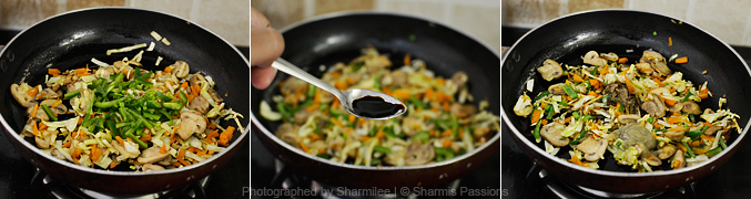 How to make mushroom fried rice - Step3