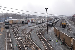 NS Trains Rose Yard Altoona 12/30/13