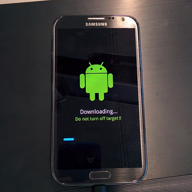 Android Downloading Do Not Turn Off Target