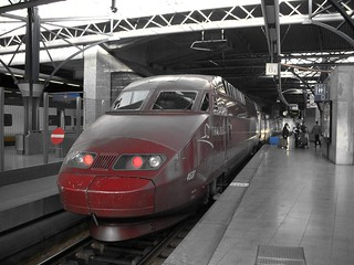 A Thalys in Brussels south railway station